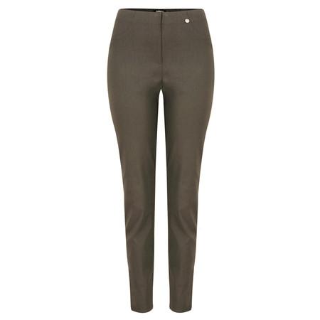 Robell Trousers Bella 78cm Slim Fit Trouser - Almond