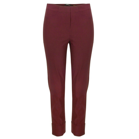 Robell Trousers Bella 7/8 Cropped Trouser  - Red