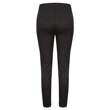 Robell Trousers Colette Houndstooth Treggings - Black
