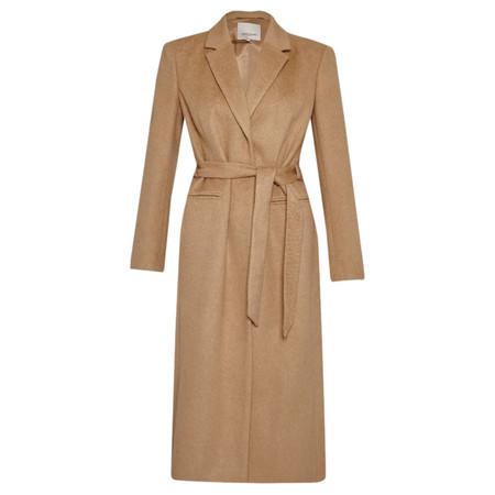 Great Plains Blenheim Full Length Belted Coat - Brown