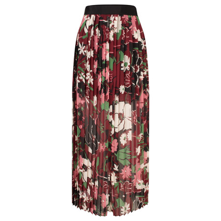 French Connection Bloomsbury Garden Sheer Skirt - Red