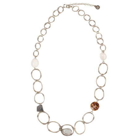 Sandwich Clothing Metal Chain Necklace - Grey