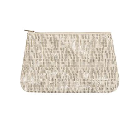 Gemini Home Sequin Zip Bag - Off-white