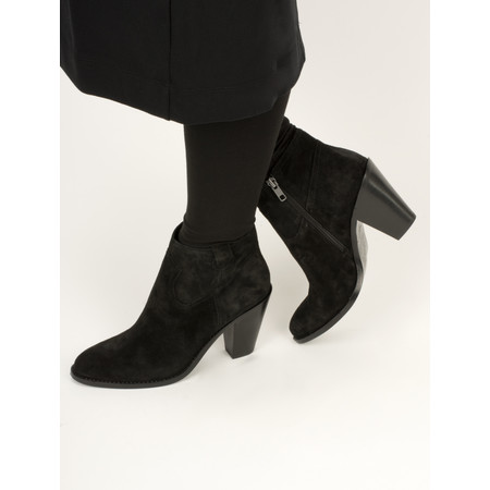 Vanilla Moon Shoes Cala Gaucho Suede Ankle Boot - Black