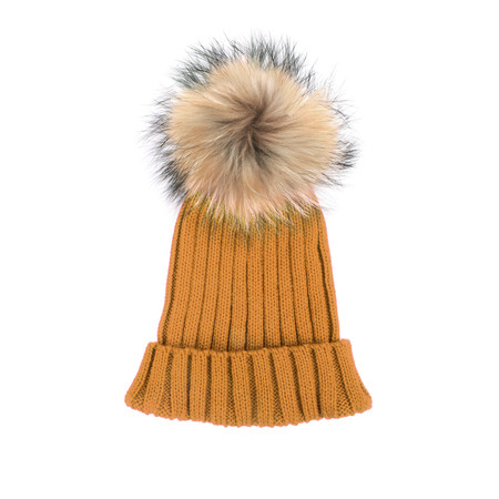 Bitz of Glitz Anna Ribbed Beanie Hat - Brown