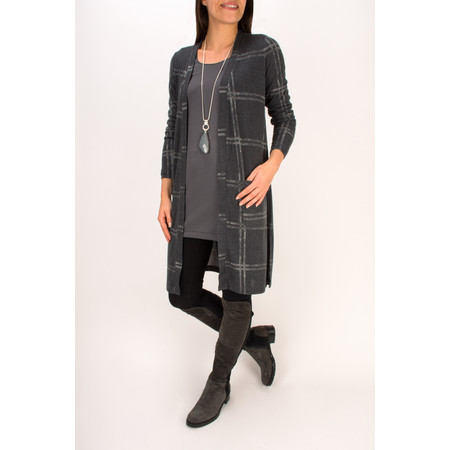 Sandwich Clothing Printed Square Jersey Cardigan - Grey