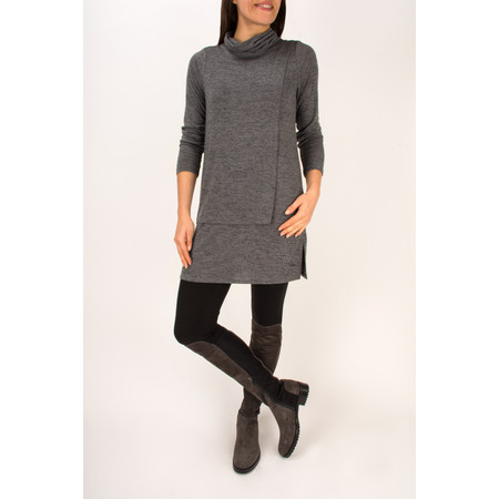 Sandwich Clothing Jersey Roll Neck Tunic Top - Grey