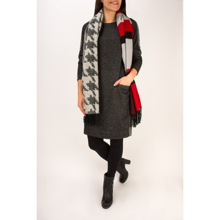 Sandwich Clothing Jacquard Printed Weave Scarf - Red