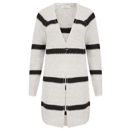 Sandwich Clothing Long Alpaca Blend Striped Cardigan - Grey