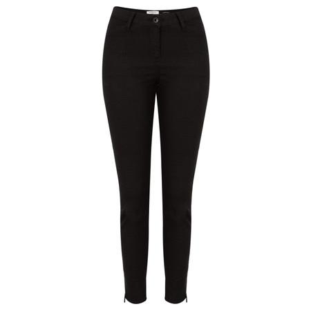 Sandwich Clothing  Jacquard Pattern Stretch Trouser  - Black