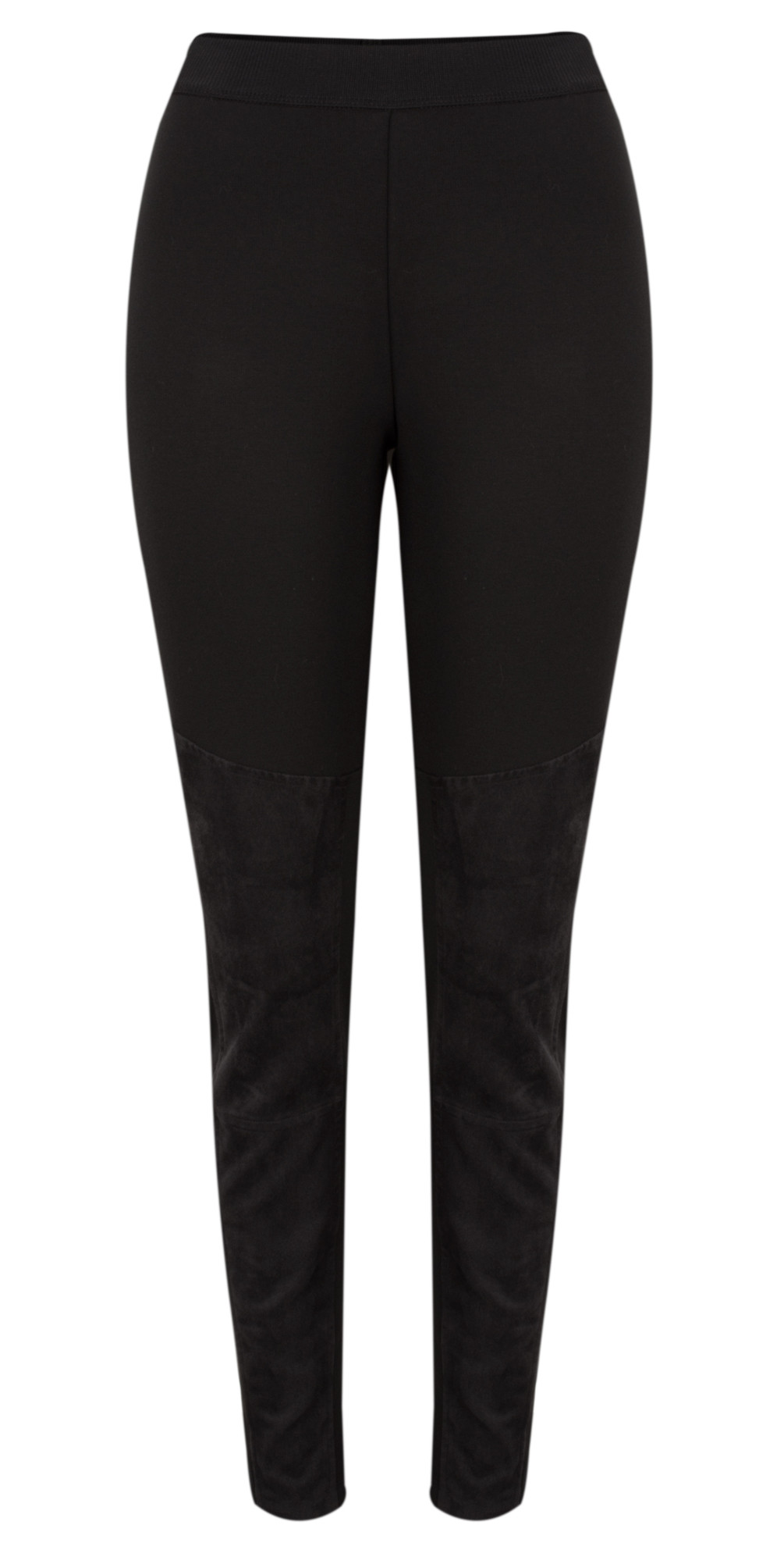 Faux Suede Panel Legging  main image