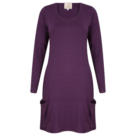 Masai Clothing Striped Gysma Tunic - Purple