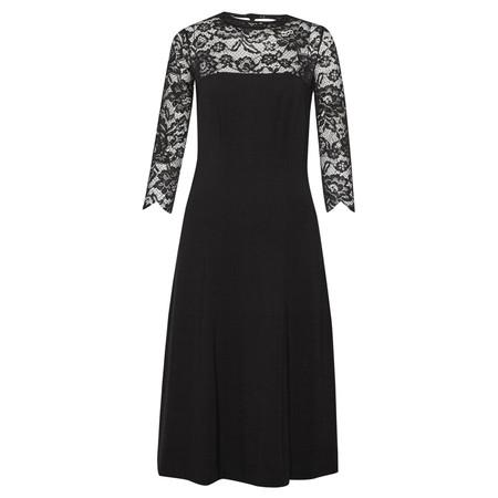 Great Plains Georgia Lace Keyhole Dress - Black