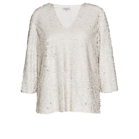Great Plains Siren Sequins Embellished Top - White