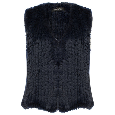 RINO AND PELLE Leoda Faux Fur Gilet - Blue