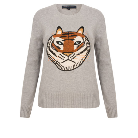 French Connection Tiger Knits Jumper - Grey