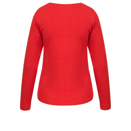 Masai Clothing Basic Cream Long Sleeve Top - Red