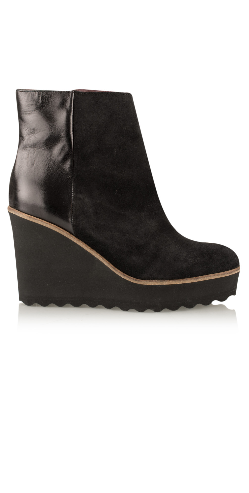1eff3b25d04 Black Maree Wedge Ankle Boot