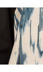 Sandwich Clothing Intense Teal Stained Ikat Print Dress