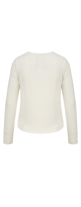 Sandwich Clothing Velvet Boucle Pullover Washed Chalk