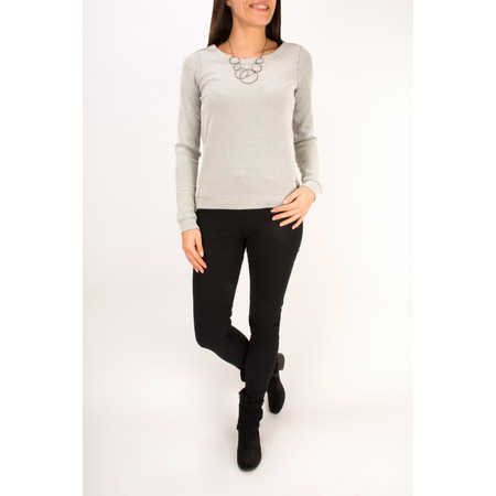 Sandwich Clothing Structure Jersey Sweatshirt - White