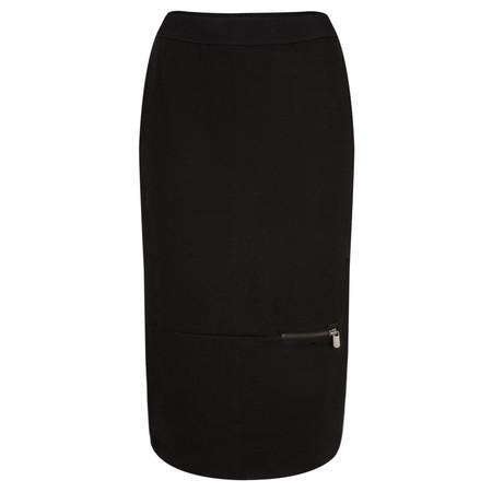 Sandwich Clothing Structured Jersey Midi Skirt - Black