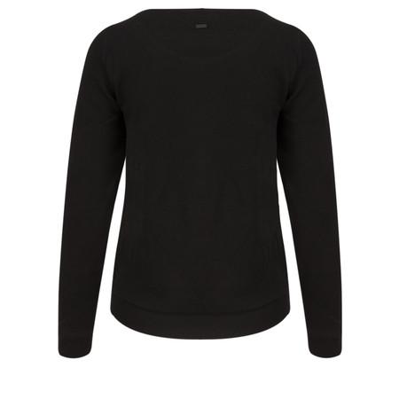 Sandwich Clothing Structure Jersey Sweatshirt - Black
