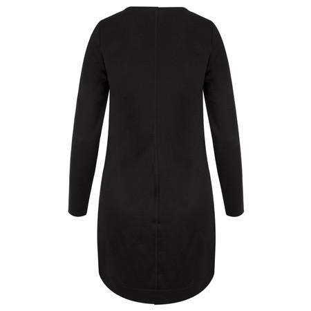 Sandwich Clothing Jersey Suede Panel Dress - Black