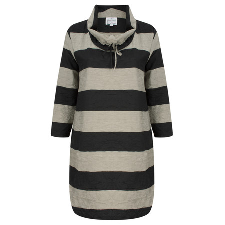 Masai Clothing Striped Gordana Tunic - Black