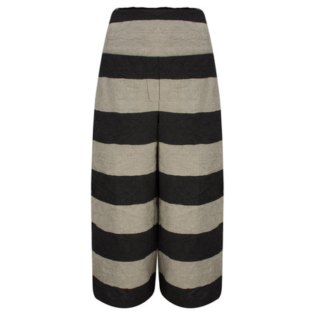 Masai Clothing Striped Phoenix Culotte - Black
