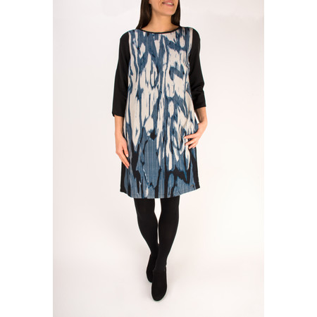 Sandwich Clothing Stained Ikat Print Dress - Blue