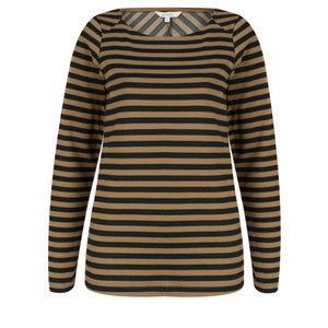 Sandwich Clothing Long Sleeve Striped Top
