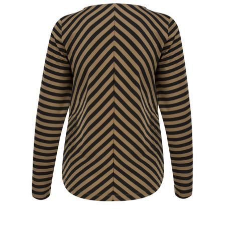 Sandwich Clothing Long Sleeve Striped Top - Beige