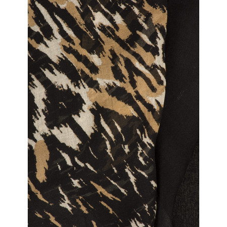 Sandwich Clothing Leopard Victoria Weave Scarf - Black