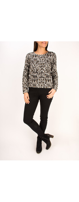 Sandwich Clothing French Terry Sweater Top Black
