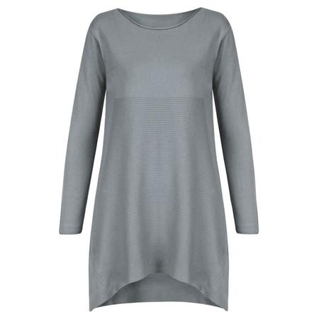 Arka Nataly Soft Knit Rib Detail Tunic - Blue