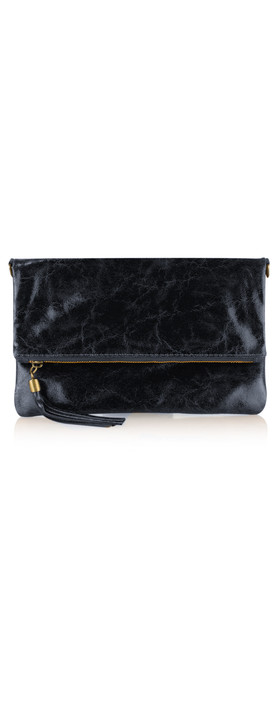 ItaliaB Casta Glazed Clutch Navy