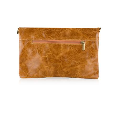 ItaliaB Casta Glazed Clutch - Brown