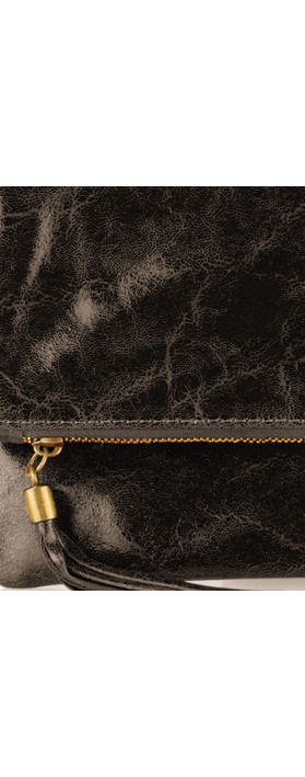 ItaliaB Casta Glazed Clutch Chocolate