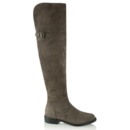 Tamaris  Over Knee Suede Boot - Grey