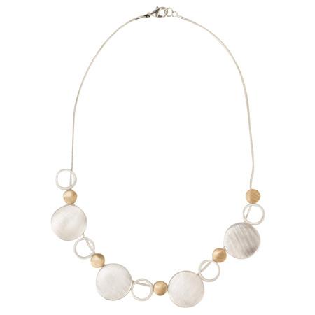 Dansk Smykkekunst Rosamunde Short Necklace - Metallic