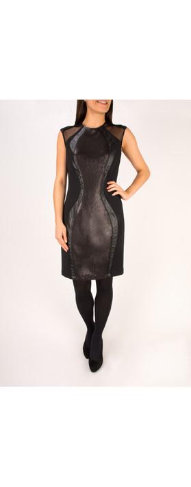 Lauren Vidal Romy Sequin Dress Noir Black