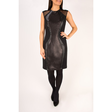 Lauren Vidal Romy Sequin Dress - Black