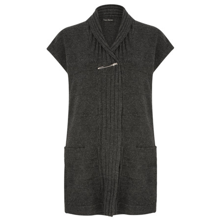 Two Danes Vildan Knit Waistcoat - Black