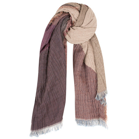 Dansk Smykkekunst Large Cotton Check Scarf - Port