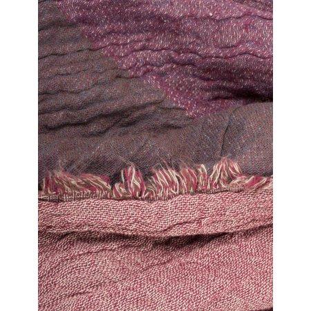 Dansk Smykkekunst Large Cotton Check Scarf - Purple