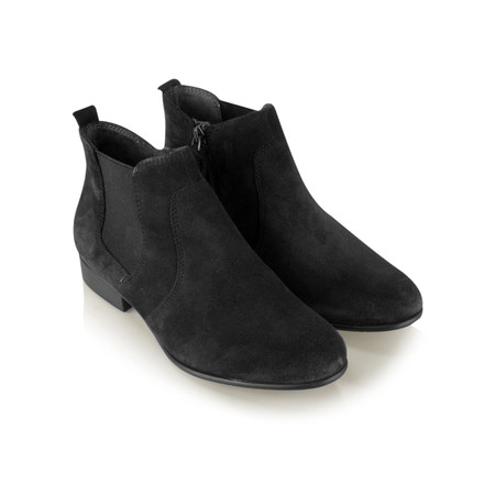 Tamaris  Suede Ankle Boot - Black