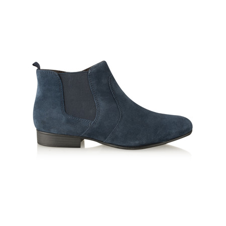 Tamaris  Suede Ankle Boot - Blue