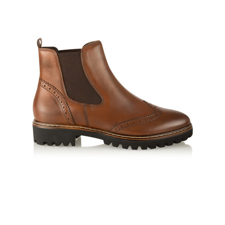 Tamaris  Urban Brogue Chelsea Boot - Brown