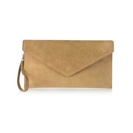 Pure White Paluzza Handbag - Brown